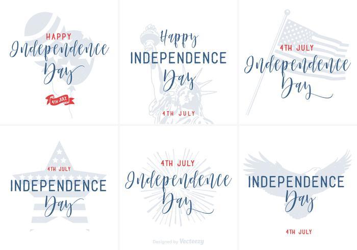 Gelukkige Onafhankelijkheidsdag Hand Getekende Lettering Vector Posters