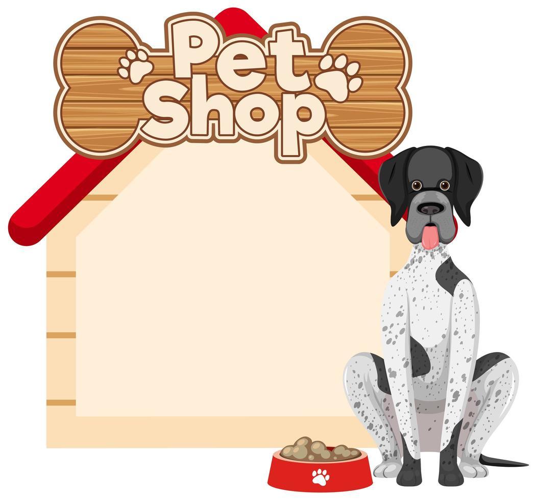 lege hondenhok banners met schattige hond geïsoleerd op een witte achtergrond vector