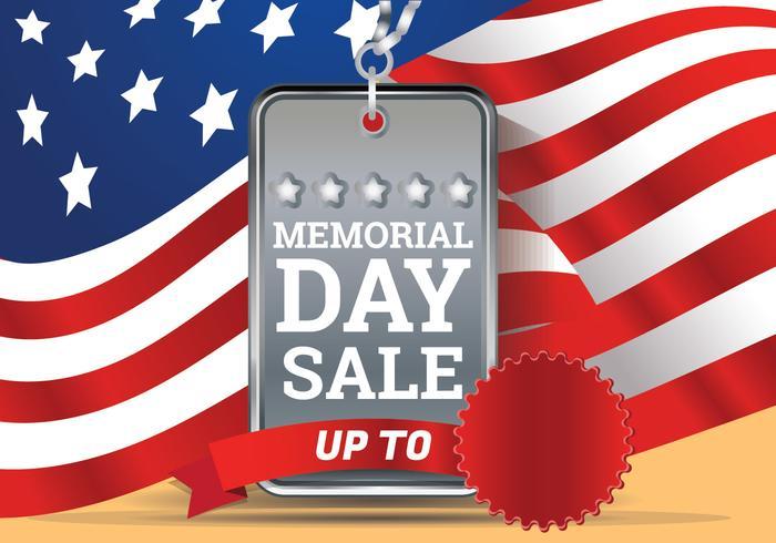 Memorial Day Sale Achtergrond Sjabloon vector