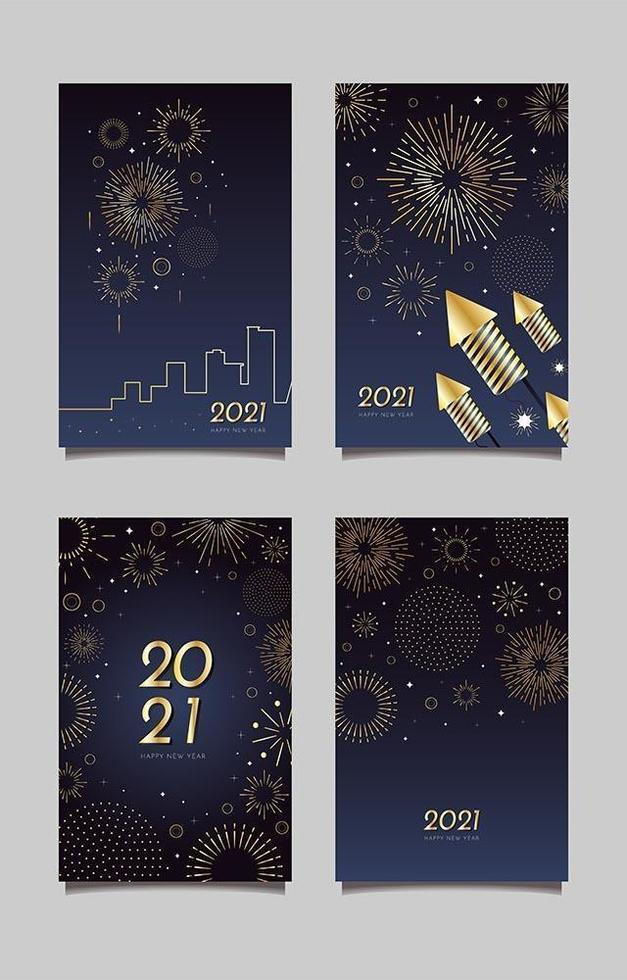 elegante minimalistische vuurwerkkaartsjablonen vector