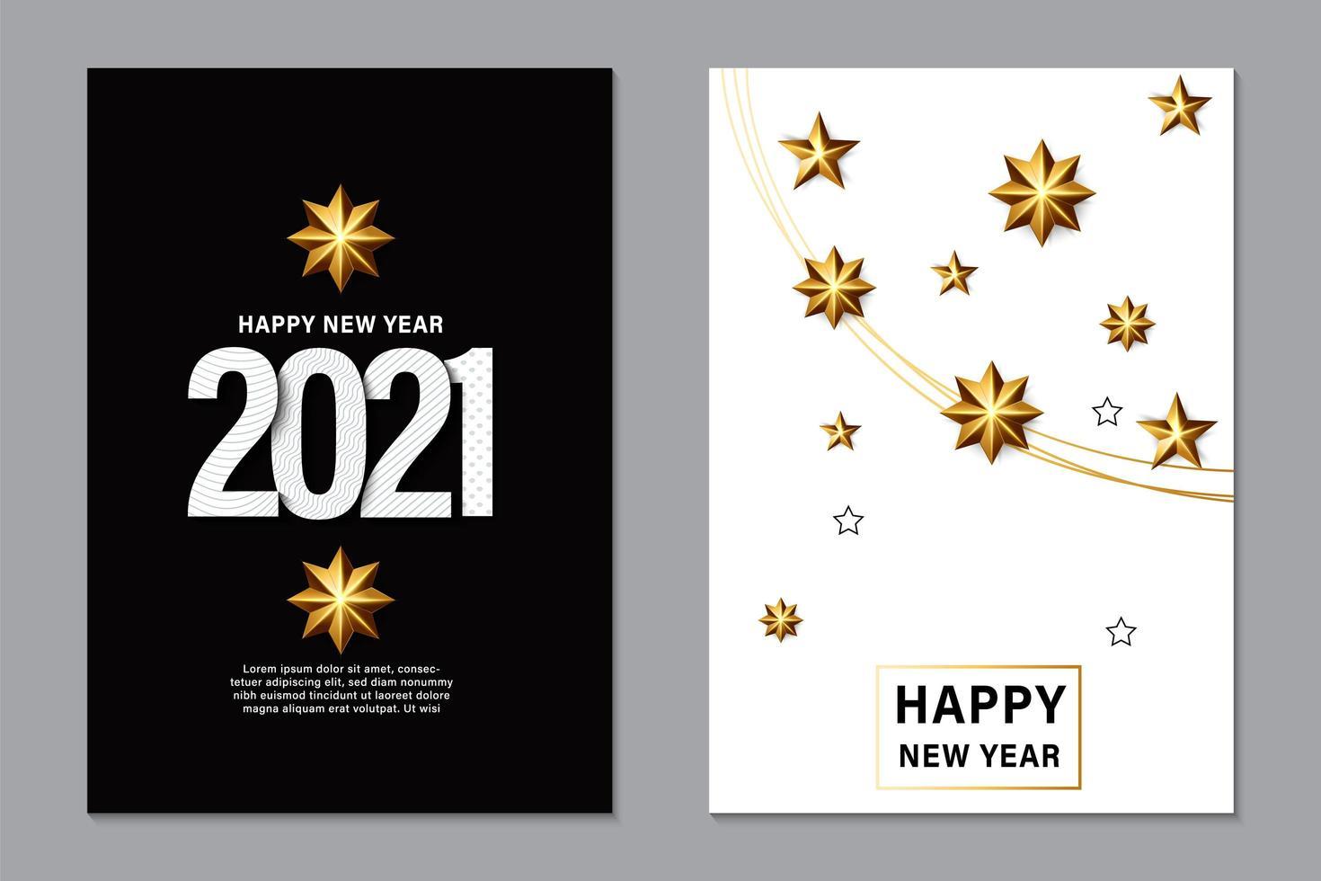 2021 Nieuwjaar achtergrond voor wenskaart vector