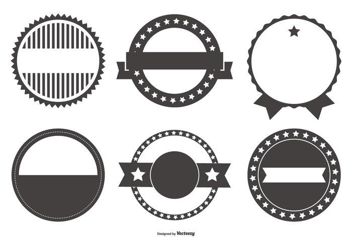 Retro Badgevormen Collectie vector