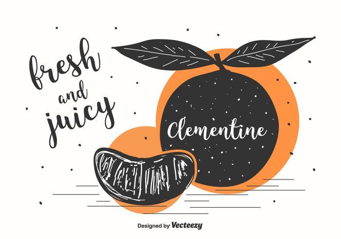 Clementine Illustratie Achtergrond vector