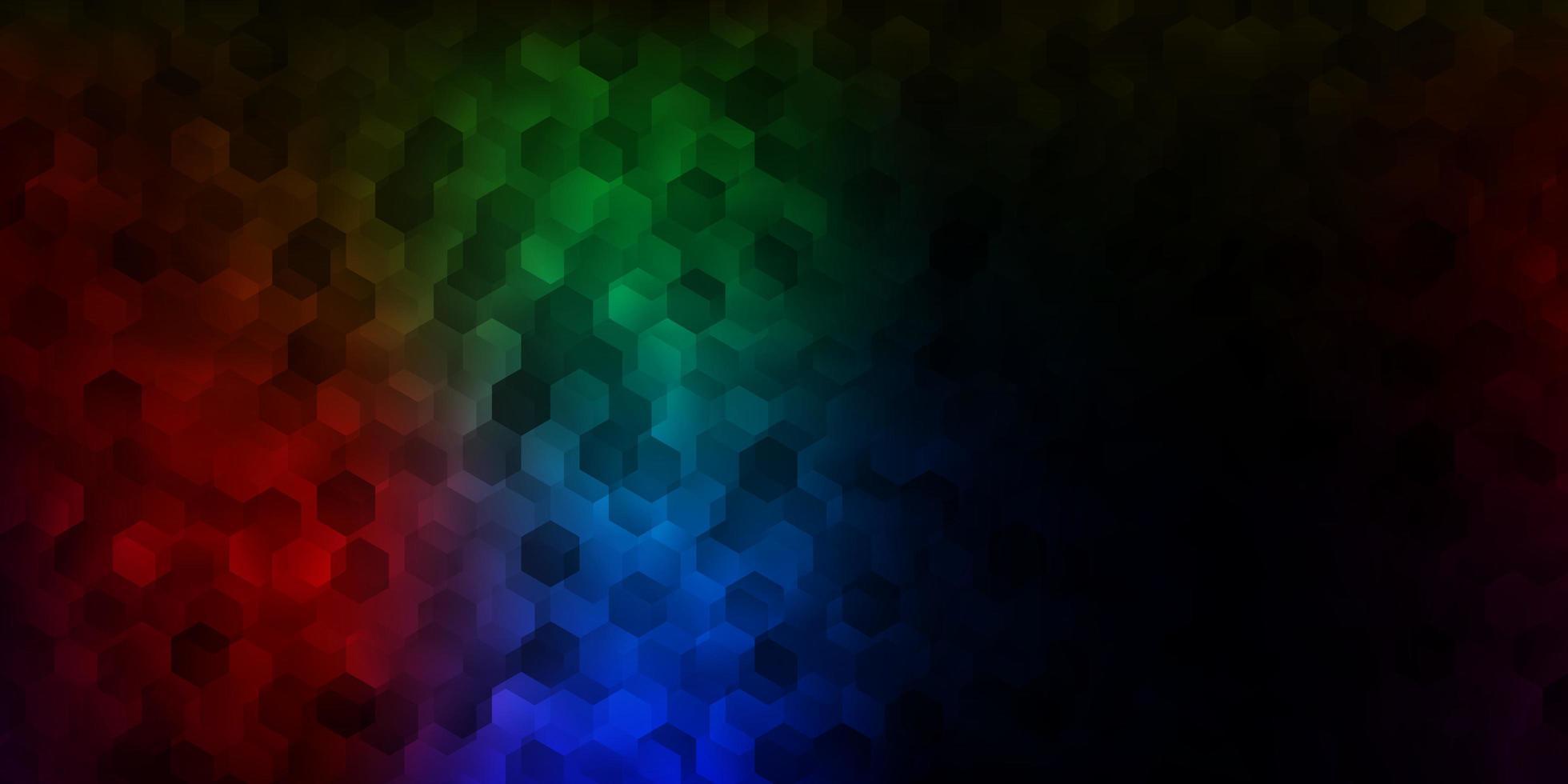 donkere veelkleurige achtergrond met chaotische vormen. vector