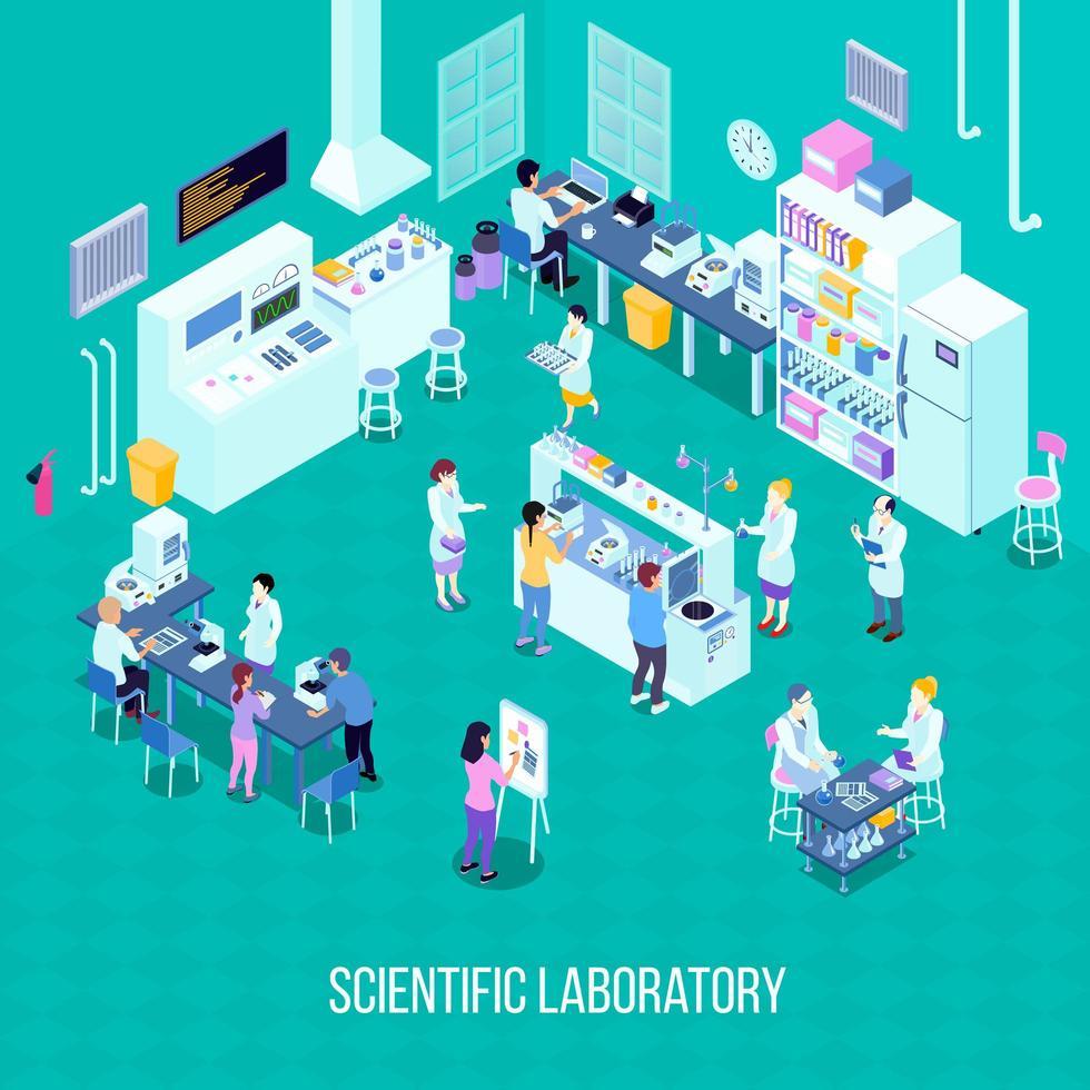 isometrische laboratoriumsamenstelling vector
