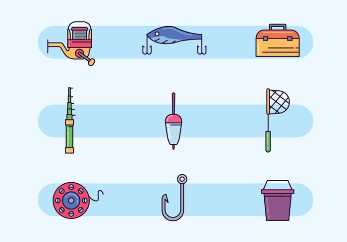 Kleurrijke Visserij vector