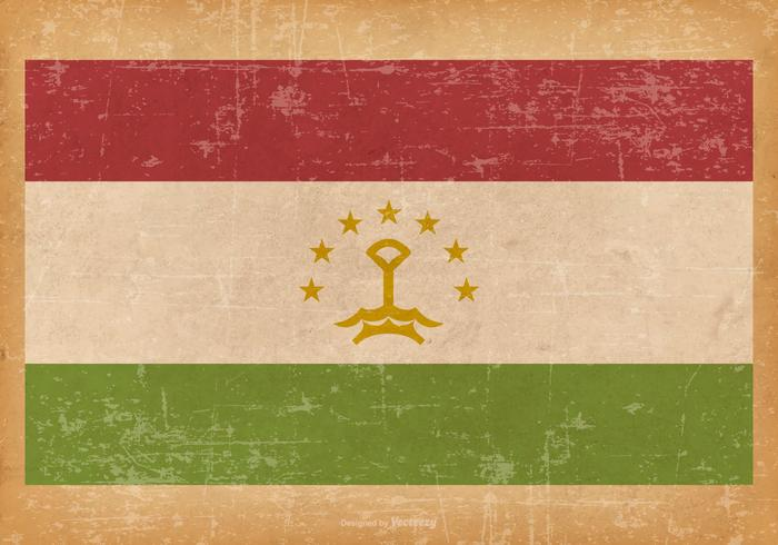 Grunge Vlag van Tadzjikistan vector