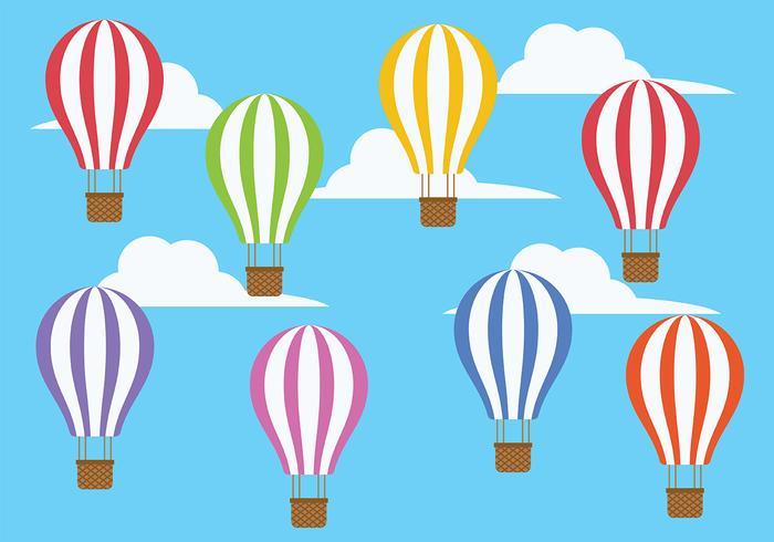 Hot Air Balloon Pictogram Vector