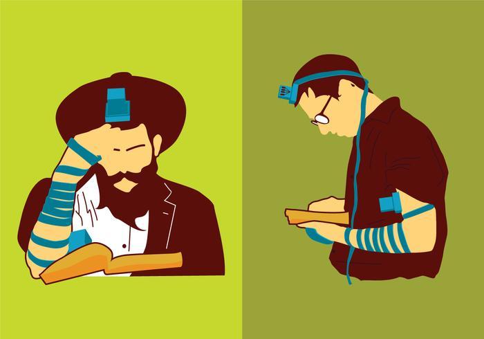 Joodse Man Bidden vector