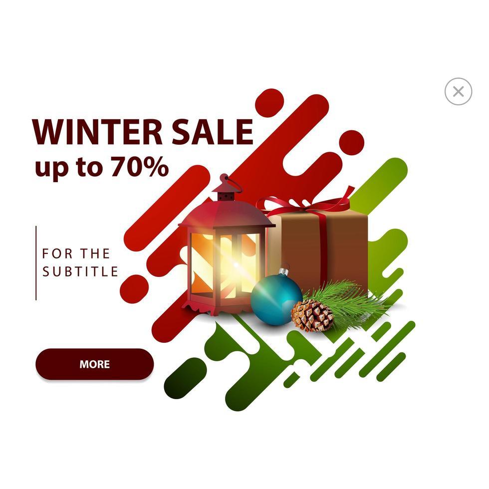 winteruitverkoop, pop-up voor website vector