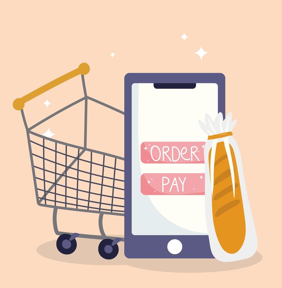 online marktsamenstelling met vers fruit en groenten vector