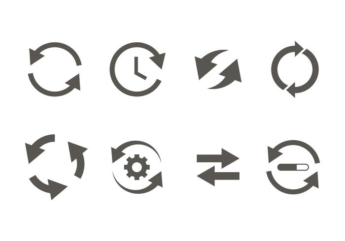 Glyph update icoon vector