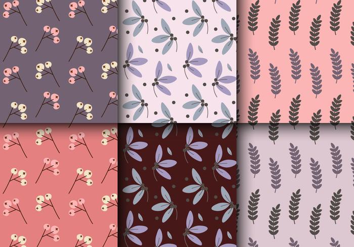 Gratis Vintage Bloemenpatroon vector