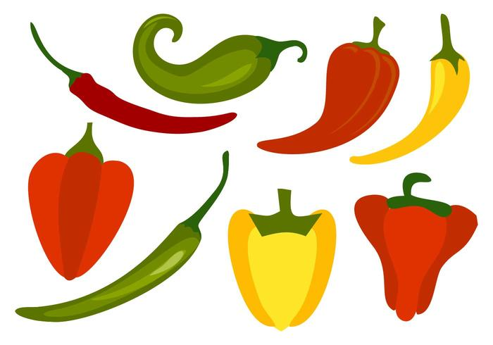 Gratis Chili Peppers Vector