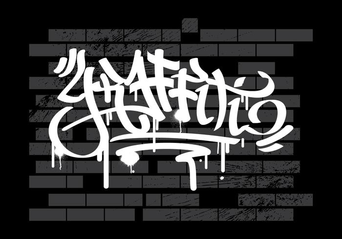 Graffiti Op Muur Vector Achtergrond