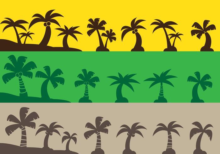 Coconut Tree Icons vector