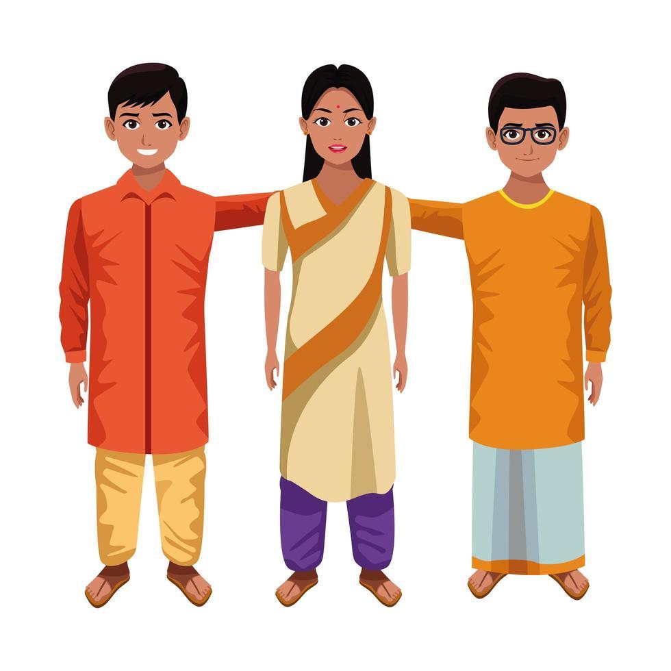 Indiase stripfiguren vector