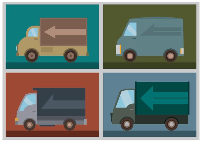 Gratis Moving Van Vectors
