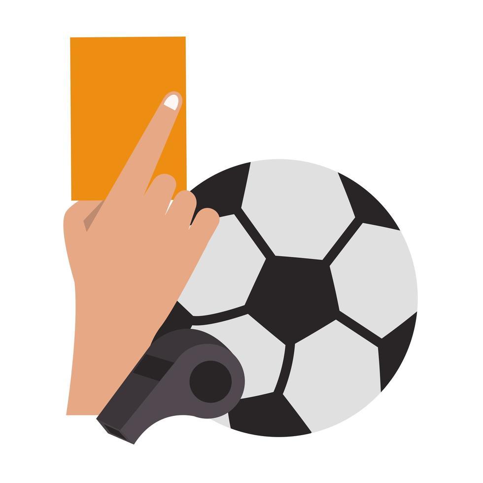 voetbal en sport scheidsrechter kaart cartoon vector