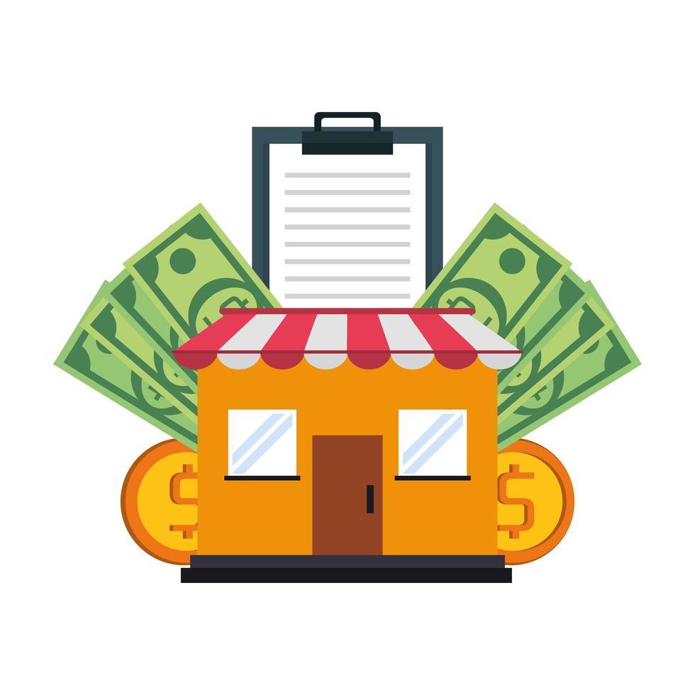 winkelen verkoop en marketing samenstelling vector