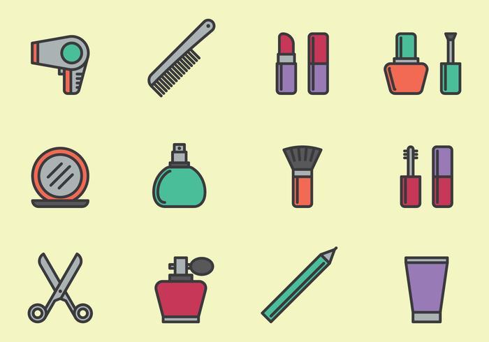 Kosmetische Pictogrammen Set vector