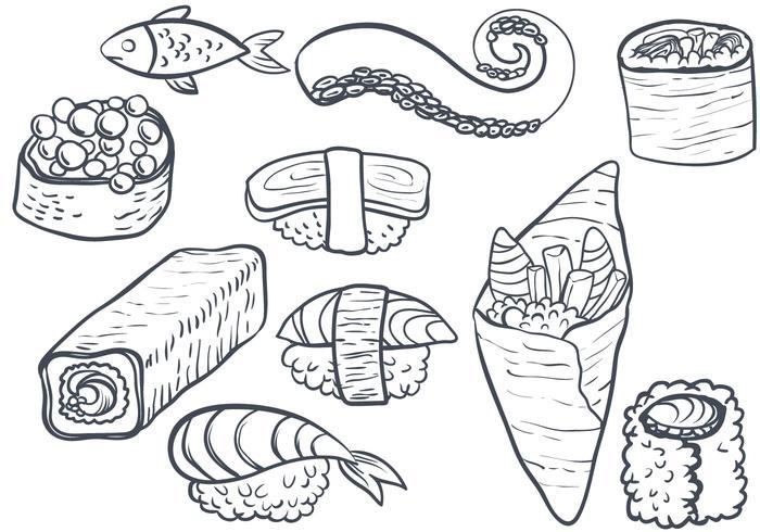Gratis Sushi 2 Vectoren