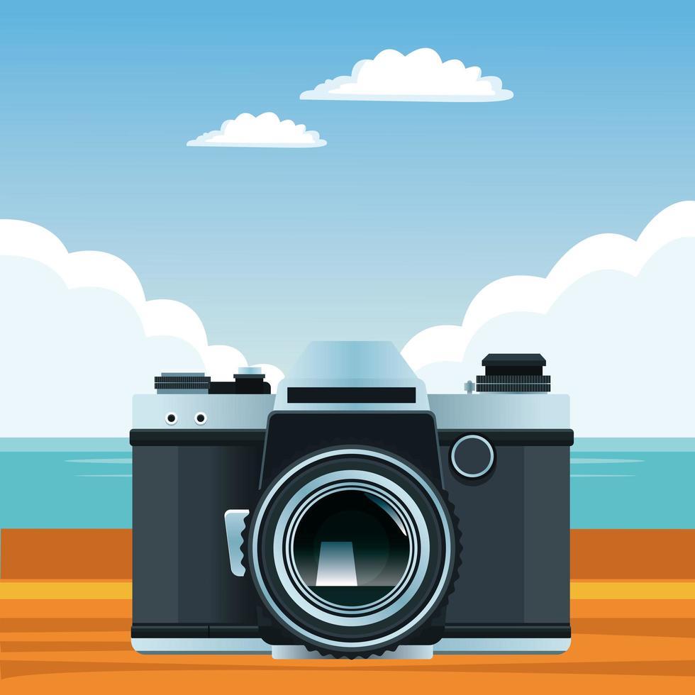 zomer, strand en tropische vakantiesamenstelling vector