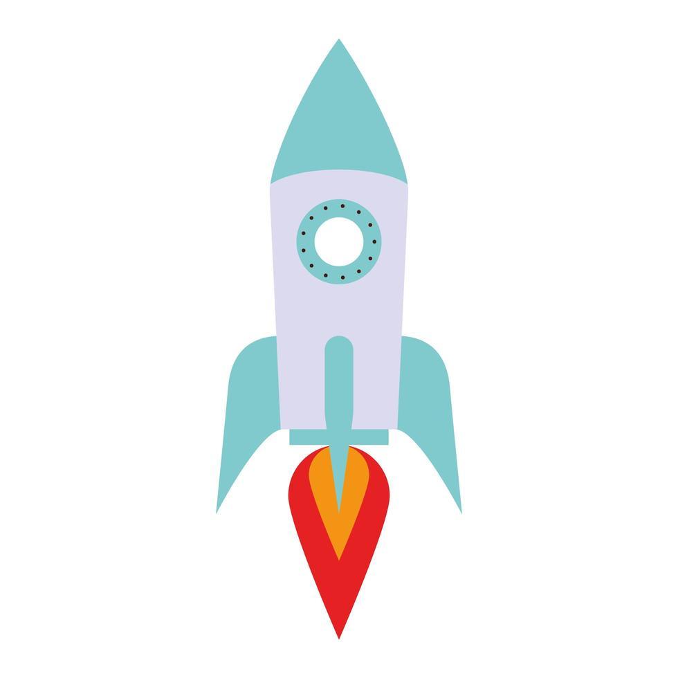 Ruimteschip raket geïsoleerde cartoon icoon vector
