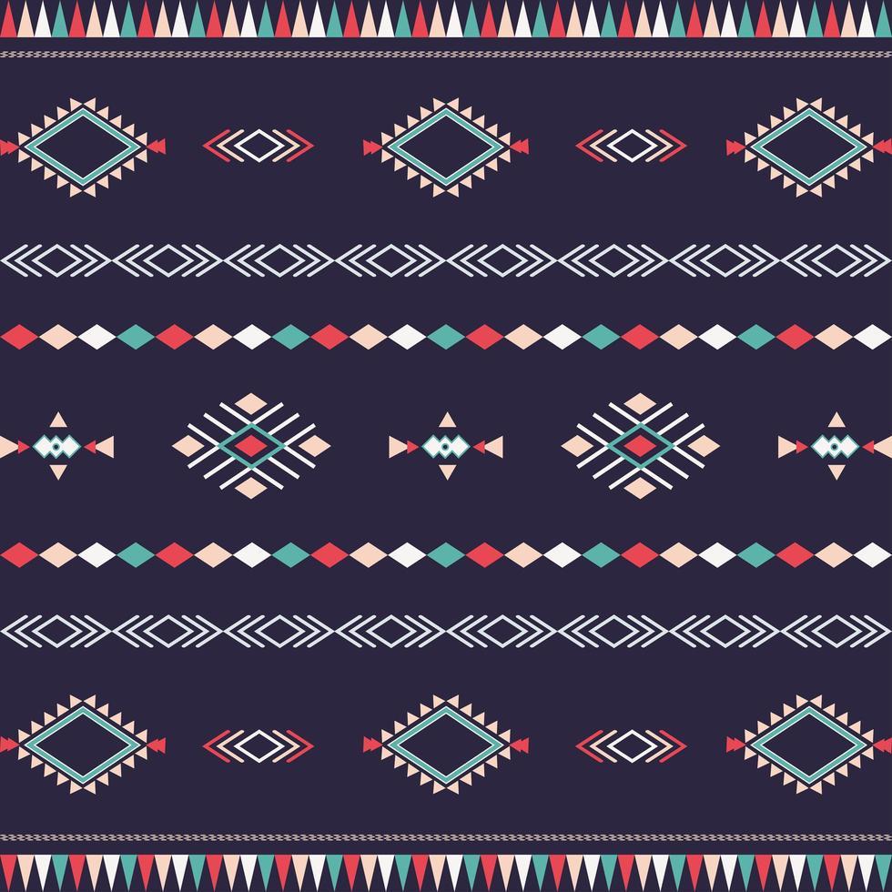 Azteeks stammenpatroon met geometrische vormen vector