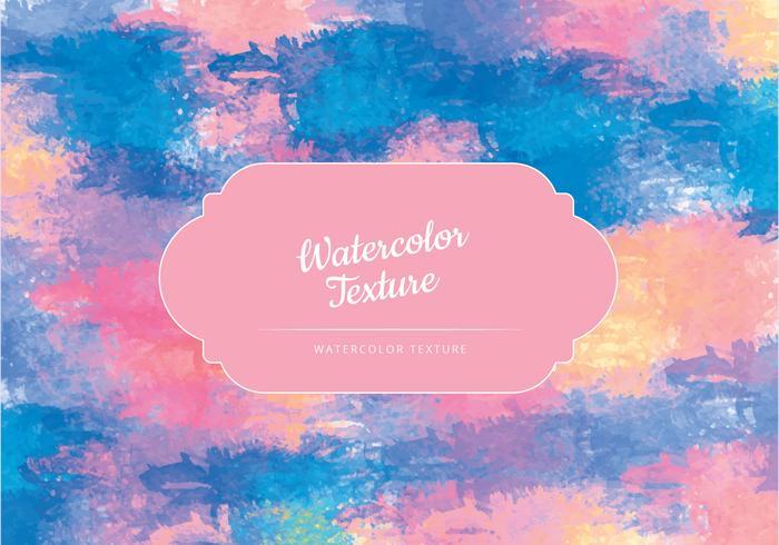 Vector Waterverf Kleurrijke Textuur