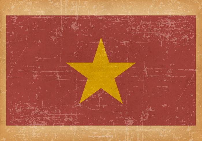 Grunge Vlag van Vietnam vector