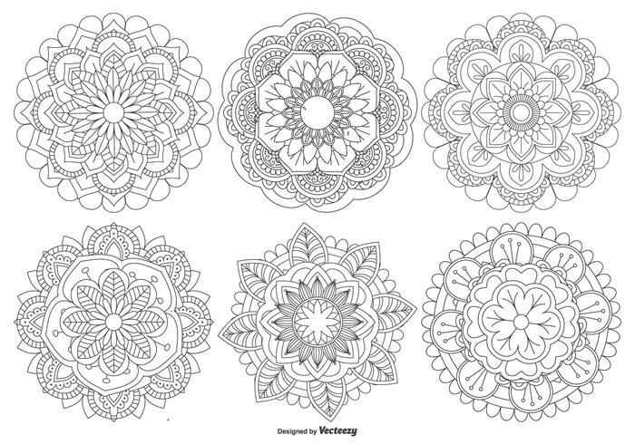 Mooie Mandala Shapes Collection vector