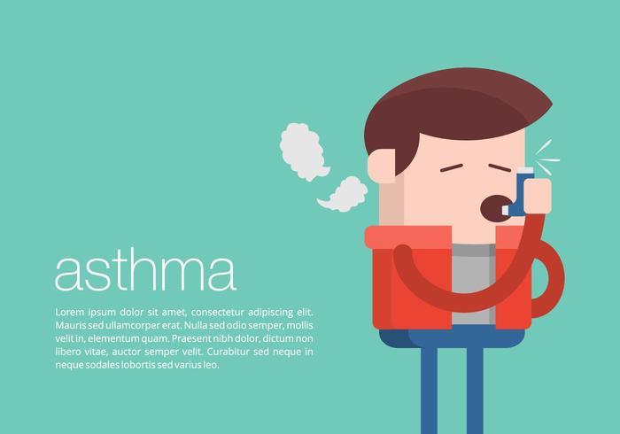 Astma Achtergrond vector