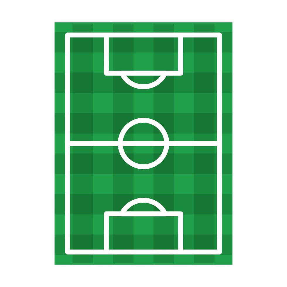 voetbalveld bovenaanzicht symbool geïsoleerd vector