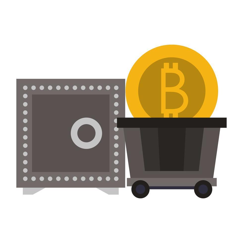 bitcoin cryptocurrency digitale geldsymbolen vector