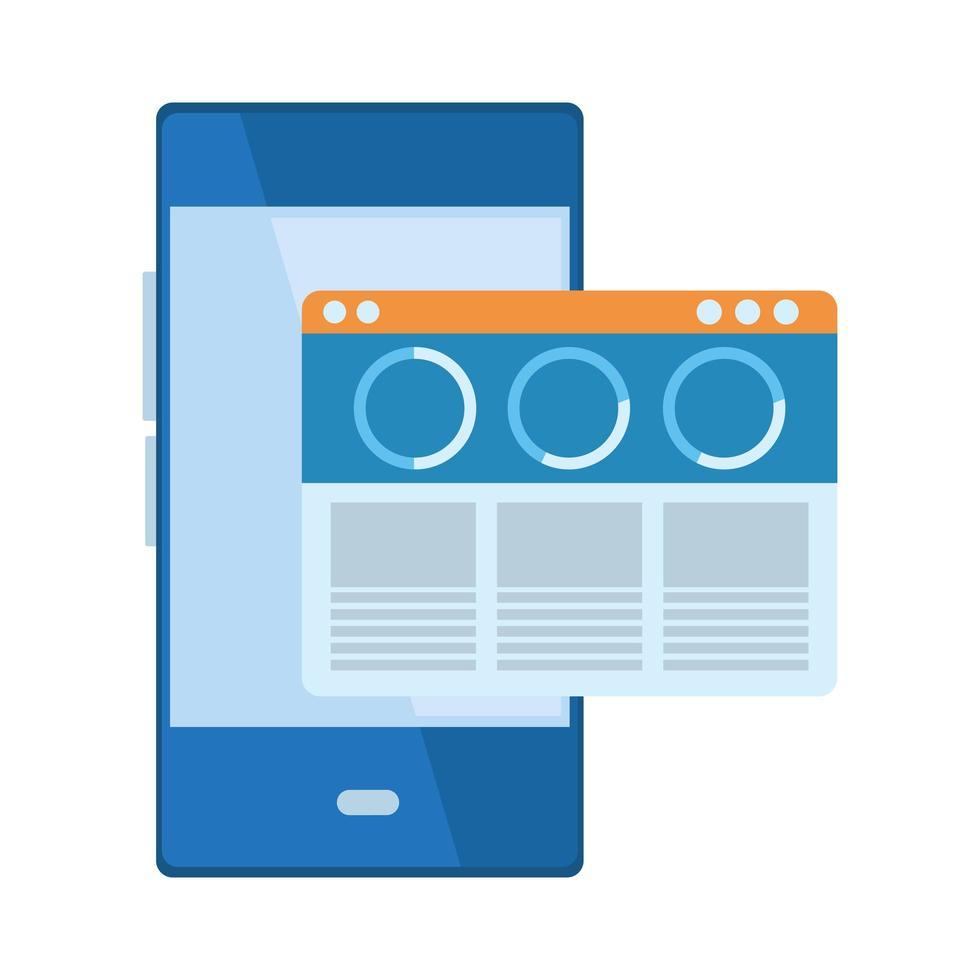 mobiel mobiele communicatie cartoon icoon vector