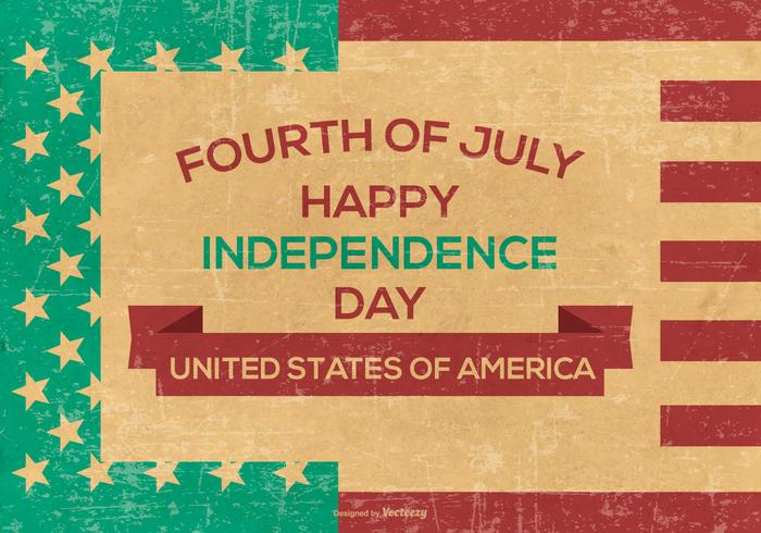 Retro Grunge Independence Day Background vector