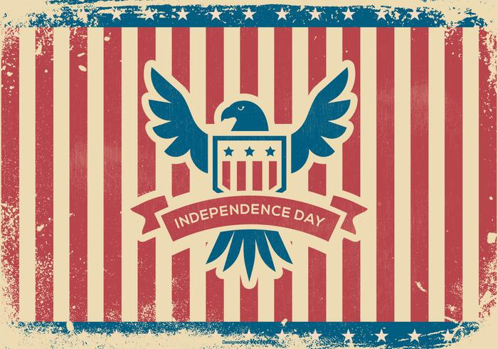 Grunge Independence Day Background vector
