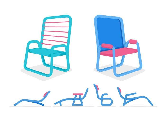 Gratis Unieke Lawn Chair Vectoren