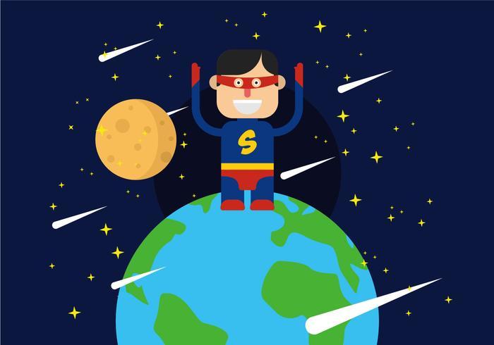Super Heroes Illustratie vector