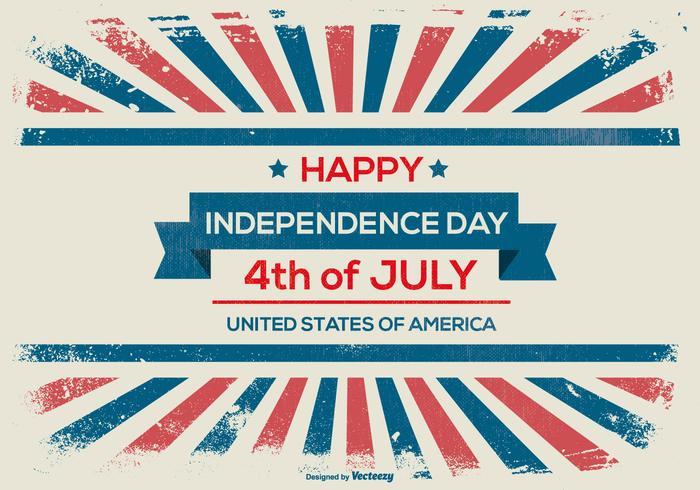 Achtergrond van de Onafhankelijkheidsdag van Grunge Style vector