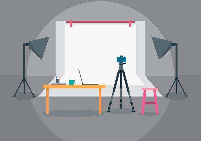 Foto Studio Illustratie vector