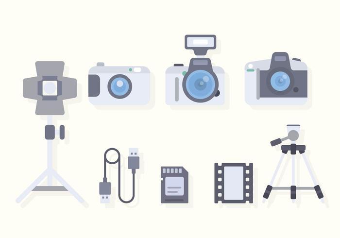 Flat Camera Equipment Vectors