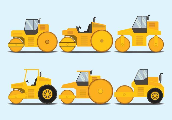 Road Roller Vector Set