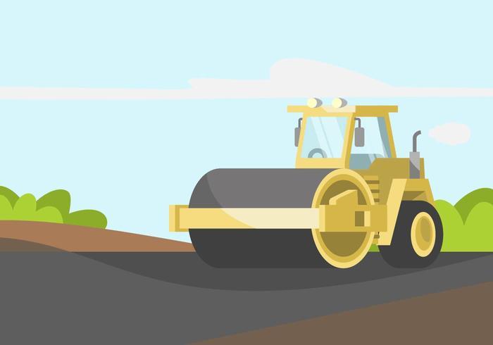Steamroller Illustratie vector