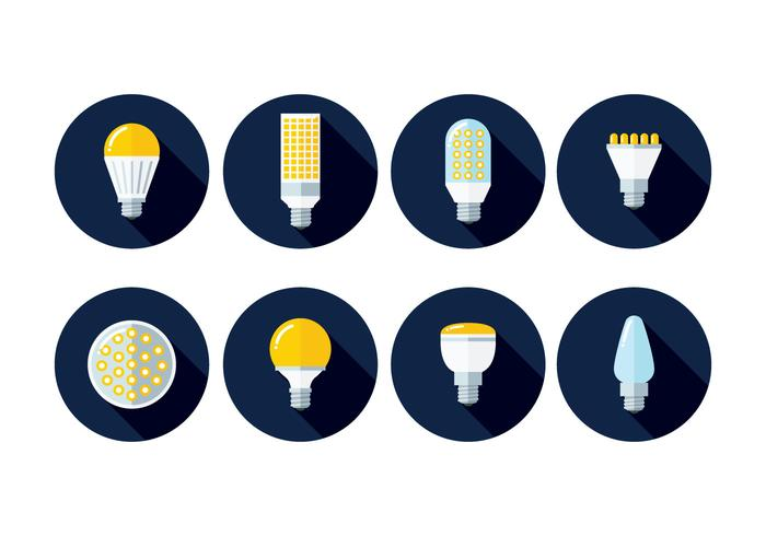 LED-lampjes iconen vector