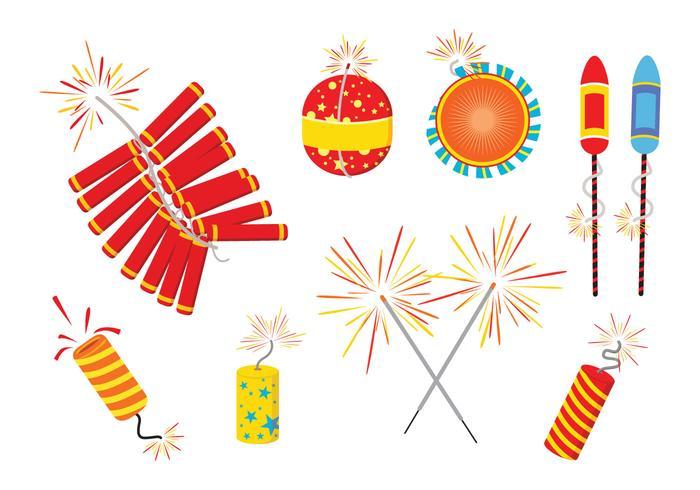 Diwali Fire Crackers Vectors