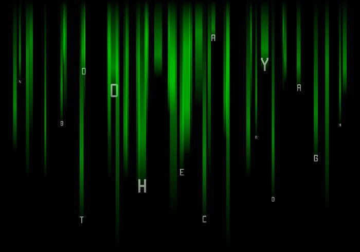 Falling Letters Matrix Baground Gratis Vector