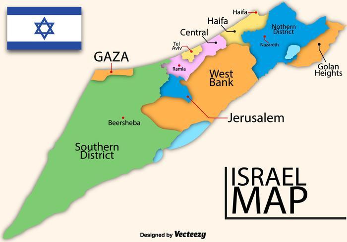 Vector Hoog Gedetailleerde Kaart Van Israël