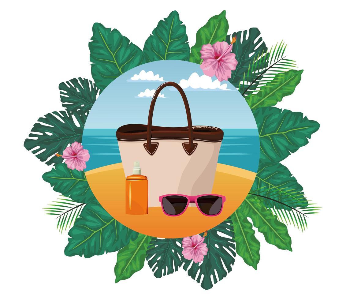 zomer-, strand- en vakantiesamenstelling vector
